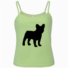 French Bulldog Silo Black Ls Green Spaghetti Tank