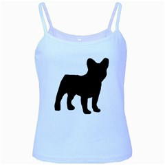 French Bulldog Silo Black Ls Baby Blue Spaghetti Tank
