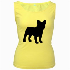 French Bulldog Silo Black Ls Women s Tank Top (Yellow)