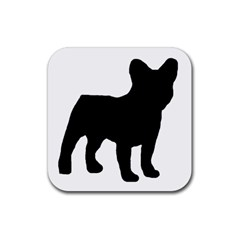 French Bulldog Silo Black Ls Drink Coaster (Square)