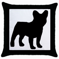 French Bulldog Silo Black Ls Black Throw Pillow Case