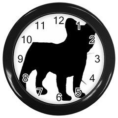 French Bulldog Silo Black Ls Wall Clock (Black)