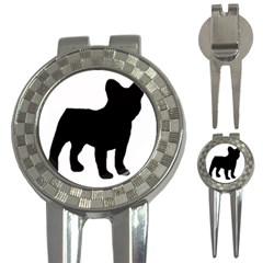 French Bulldog Silo Black Ls Golf Pitchfork & Ball Marker