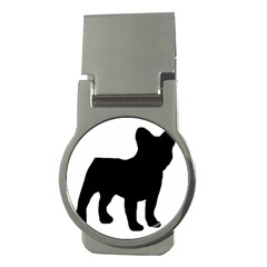 French Bulldog Silo Black Ls Money Clip (Round)