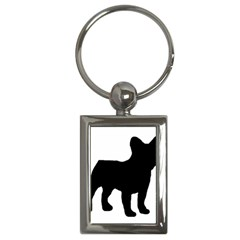 French Bulldog Silo Black Ls Key Chain (Rectangle)