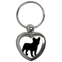 French Bulldog Silo Black Ls Key Chain (Heart)