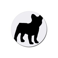 French Bulldog Silo Black Ls Drink Coaster (Round)