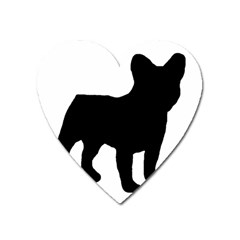 French Bulldog Silo Black Ls Magnet (Heart)