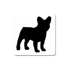 French Bulldog Silo Black Ls Magnet (Square)