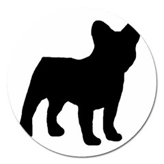 French Bulldog Silo Black Ls Magnet 5  (Round)