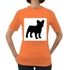 French Bulldog Silo Black Ls Women s T-shirt (Colored)