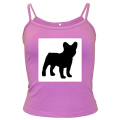 French Bulldog Silo Black Ls Spaghetti Top (Colored)