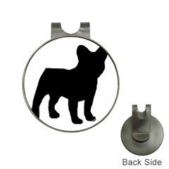 French Bulldog Silo Black Ls Hat Clip with Golf Ball Marker