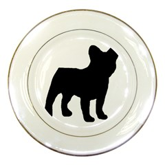 French Bulldog Silo Black Ls Porcelain Display Plate
