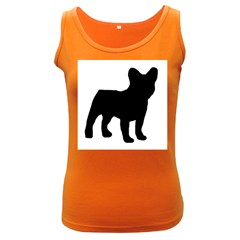 French Bulldog Silo Black Ls Women s Tank Top (Dark Colored)