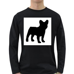 French Bulldog Silo Black Ls Men s Long Sleeve T-shirt (Dark Colored)
