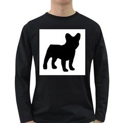 French Bulldog Silo Black Ls Men s Long Sleeve T-shirt (Dark Colored)