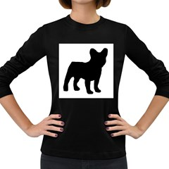 French Bulldog Silo Black Ls Women s Long Sleeve T-shirt (Dark Colored)