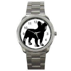 French Bulldog Silo Black Ls Sport Metal Watch