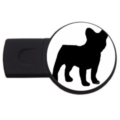 French Bulldog Silo Black Ls 4GB USB Flash Drive (Round)