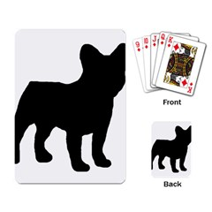 French Bulldog Silo Black Ls Playing Cards Single Design