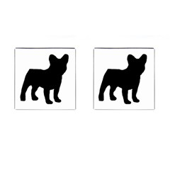 French Bulldog Silo Black Ls Cufflinks (Square)
