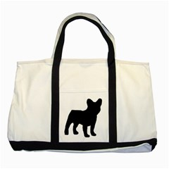 French Bulldog Silo Black Ls Two Toned Tote Bag