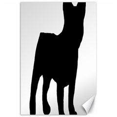 French Bulldog Silo Black Ls Canvas 24  x 36  (Unframed)