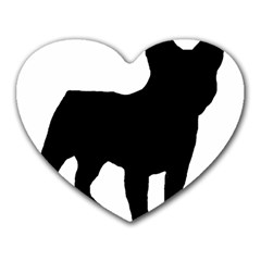 French Bulldog Silo Black Ls Mouse Pad (Heart)