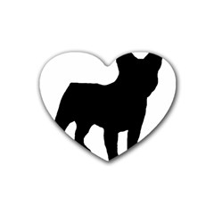 French Bulldog Silo Black Ls Drink Coasters (Heart)