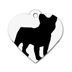French Bulldog Silo Black Ls Dog Tag Heart (Two Sided)