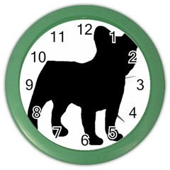 French Bulldog Silo Black Ls Wall Clock (Color)