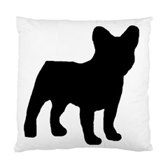 French Bulldog Silo Black Ls Cushion Case (Two Sided)