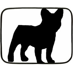 French Bulldog Silo Black Ls Mini Fleece Blanket (Two Sided)
