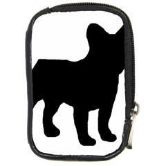 French Bulldog Silo Black Ls Compact Camera Leather Case