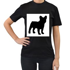 French Bulldog Silo Black Ls Women s T-shirt (Black)