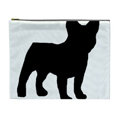 French Bulldog Silo Black Ls Cosmetic Bag (XL)