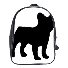 French Bulldog Silo Black Ls School Bag (Large)
