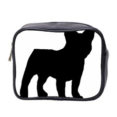 French Bulldog Silo Black Ls Mini Travel Toiletry Bag (Two Sides)