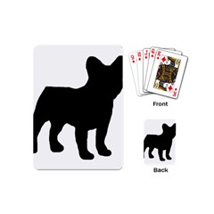 French Bulldog Silo Black Ls Playing Cards (Mini)