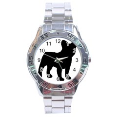 French Bulldog Silo Black Ls Stainless Steel Watch