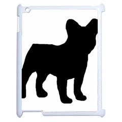 French Bulldog Silo Black Ls Apple iPad 2 Case (White)