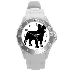 French Bulldog Silo Black Ls Plastic Sport Watch (Large)