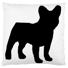 French Bulldog Silo Black Ls Large Cushion Case (Two Sided)