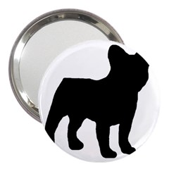 French Bulldog Silo Black Ls 3  Handbag Mirror