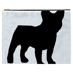 French Bulldog Silo Black Ls Cosmetic Bag (XXXL)
