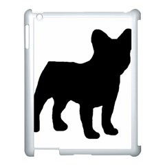 French Bulldog Silo Black Ls Apple iPad 3/4 Case (White)