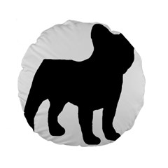 French Bulldog Silo Black Ls 15  Premium Round Cushion