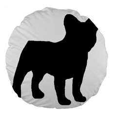 French Bulldog Silo Black Ls 18  Premium Round Cushion