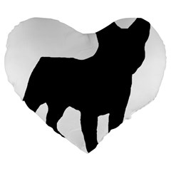 French Bulldog Silo Black Ls 19  Premium Heart Shape Cushion